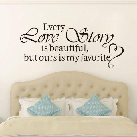 Shops DSU Love Story Quote Wall Sticker, DIY Home Decoration Wall Art Decor Wall Decal