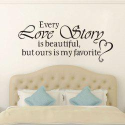 DSU Love Story Quote Wall Sticker, DIY Home Decoration Wall Art Decor Wall Decal -