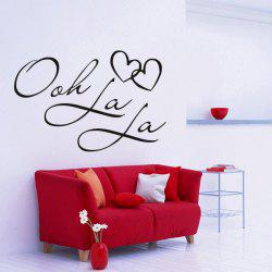 DSU OOH La La Paris France Hearts Love Vinyl Wall Stickers Quotes Bedroom Decorations Home Decor Decal Art -