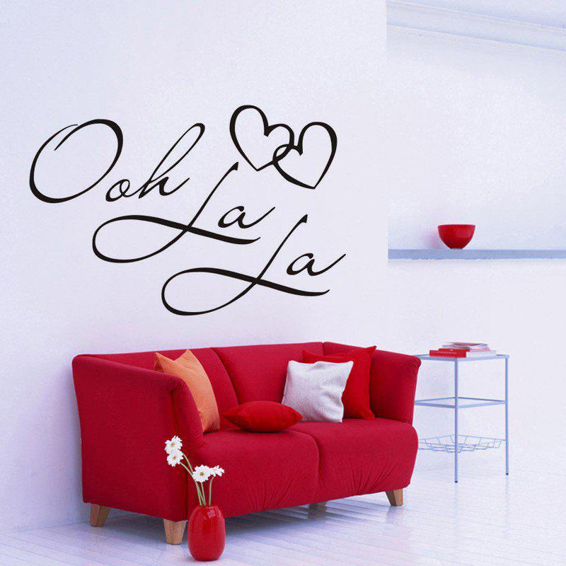 Best DSU OOH La La Paris France Hearts Love Vinyl Wall Stickers Quotes Bedroom Decorations Home Decor Decal Art