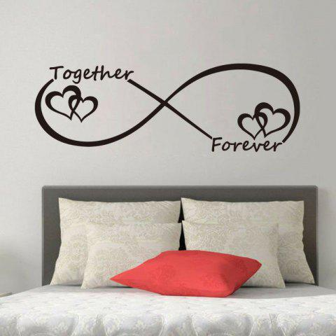 Hot DSU Together Forever Entwined Love Hearts Personalised Wall Art Vinyl Couple Wall Sticker for Bedroom Decor