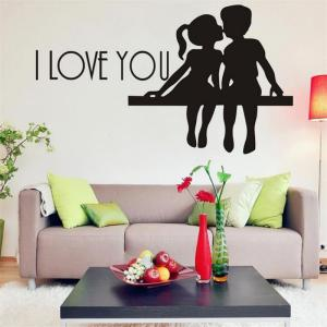 DSU Hot Selling PS I Love You Vinyl Wall Quotes Stickers Sayings Home Art Decal -