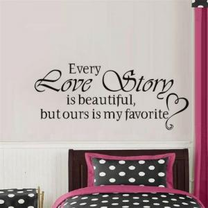DSU Every Love Story Is Beautiful But Ours Is My Favourite,Wall Stickers Home Decor,Diy Vinyl Wall Stickers,Home Decoration -