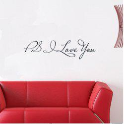 DSU P.S.I LOVE YOU DIY Removable English Wall Stickers Wall Art Decal Mural Decal Background Wall Decoration Stickers -