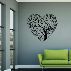 DSU 3D Wallpaper Love Tree Creative Wall Stickers Living Room Bedroom TV Background Decorative Waterproof Mura -