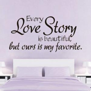DSU New Arrival Decals Every Love Story Wall Stickers Home Decor Sweet Love Romantic Art Wall Decals Home Decoration -
