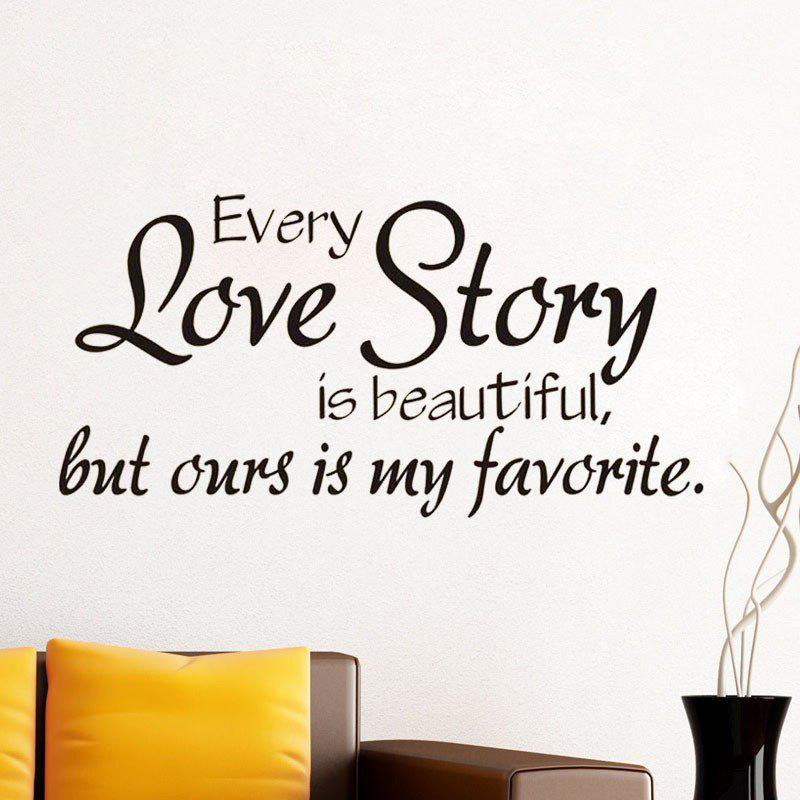 Buy DSU New Arrival Decals Every Love Story Wall Stickers Home Decor Sweet Love Romantic Art Wall Decals Home Decoration