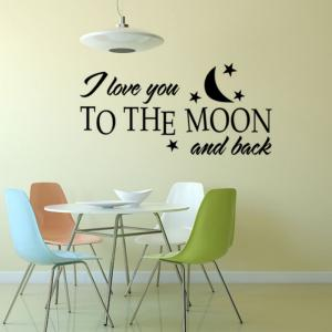 DSU I Love You More Vinyl Wall Stickers Children'S Girl'S room Decor Wedding Family Decoration -