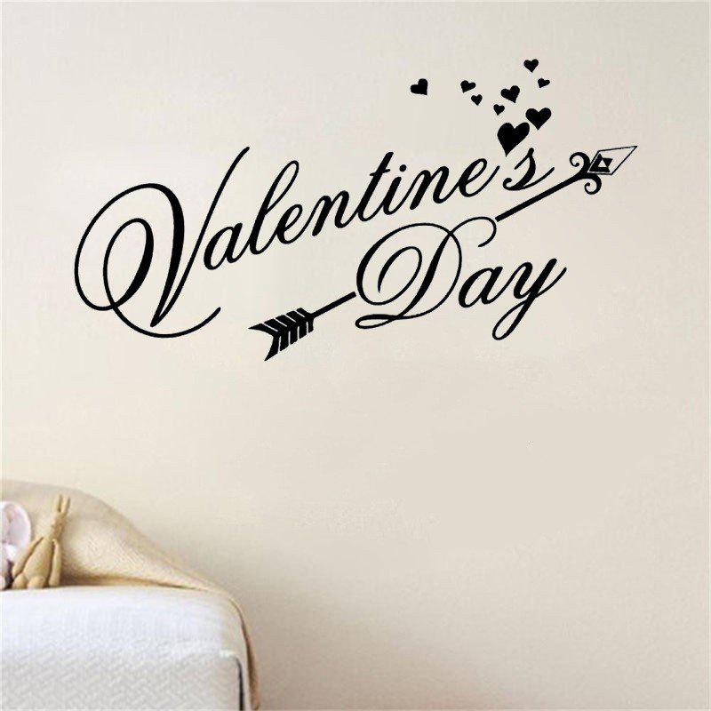 Sale DSU Happy Valentines Day Wall Decal Classic Festiva Vinyl Heart Wall Stickers Interior Windows Home Decor Door Art Mural Decal