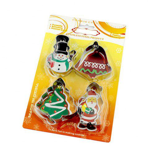Outfit 4PCS/SET Christmas Tree Stainless Steel Cookie Mould Fondant Cook Cutters Biscuit Mold Kitchen Baking Tools