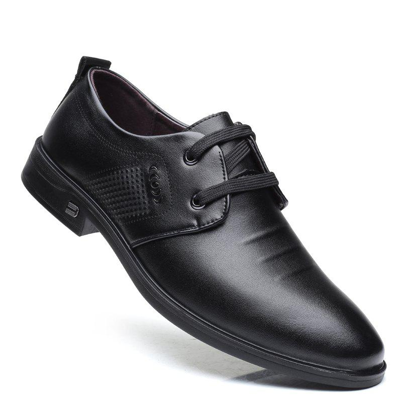 New Men Casual Trend of Fashion Rubber Leather Solid Outdoor Busness Wedding Shoes