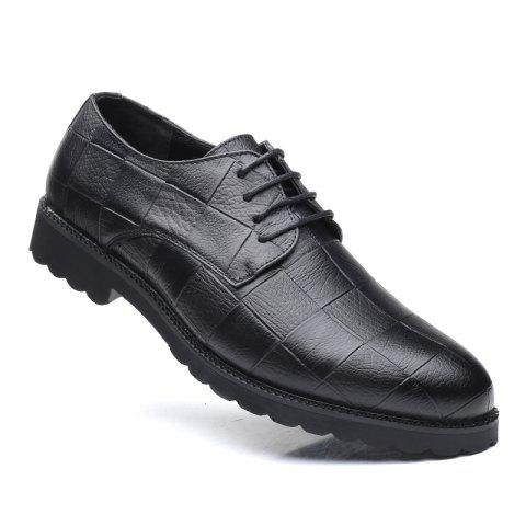 New Men Casual Trend of Fashion Rubber Leather Solid Outdoor Wedding Busness Shoes