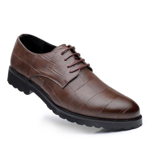 Hot Men Casual Trend of Fashion Rubber Leather Solid Outdoor Wedding Busness Shoes