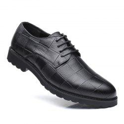 Men Casual Trend of Fashion Rubber Leather Solid Outdoor Wedding Busness Shoes -