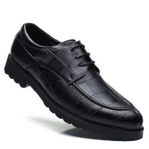 Fancy Men Casual Trend of Fashion Rubber Leather Solid Outdoor Wedding Business Shoes