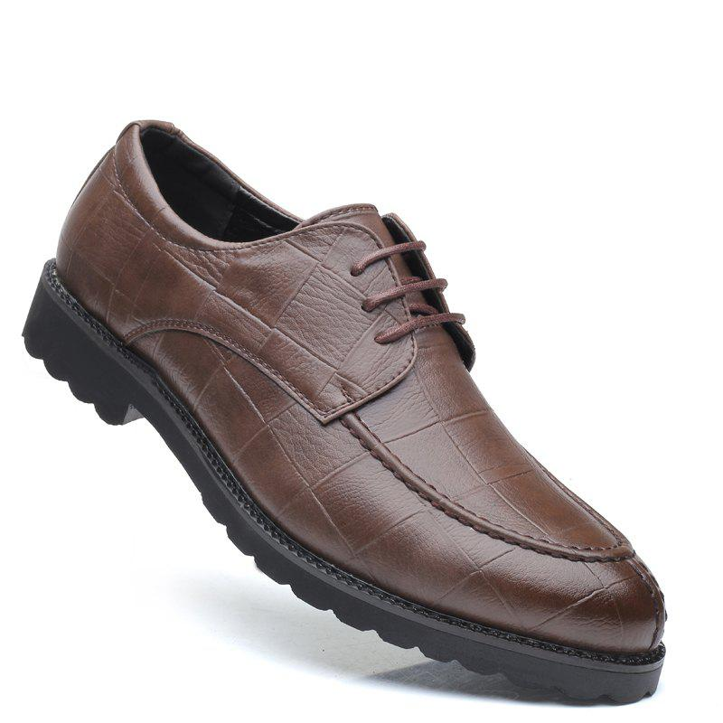 Online Men Casual Trend of Fashion Rubber Leather Solid Outdoor Wedding Business Shoes