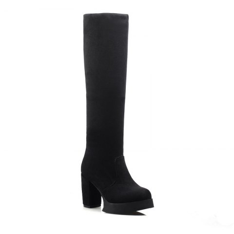 Cheap Round Waterproof Platform Rough with High Heel Sexy Wear Two High Boots