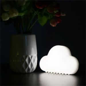 Mini USB Charging Cloud Night Lamp Intelligent Voice Control Sensing LED White -