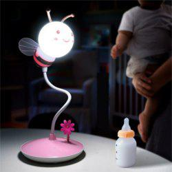 Cartoon Bee LED Lamp USB Charging Touch Dimming Pink White Light -