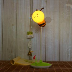 Cartoon Bee LED Lamp USB Charging Touch Dimming Yellow  Light -