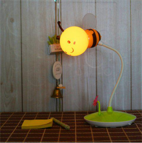 Online Cartoon Bee LED Lamp USB Charging Touch Dimming Yellow  Light