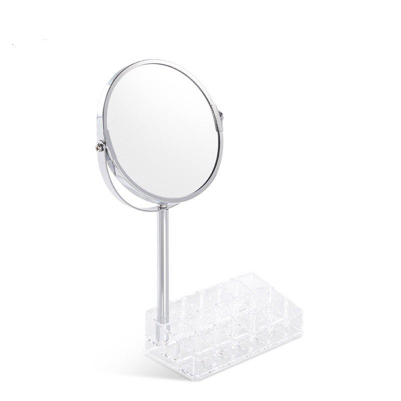 Buy European Round Shaped Double-Side Beauty Makeup Mirror Standing