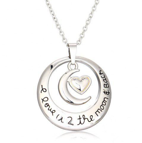 Unique The Sun and MoonPendant Silver Necklace Women Clavicle Chain