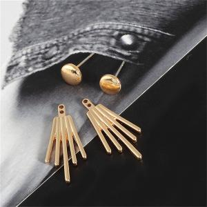 All-match Fashion Elegant Lady Personality Metal Earrings -