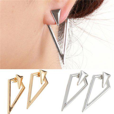 Fashion Fashion Personality All-match Lady Prismatic Metal Earrings