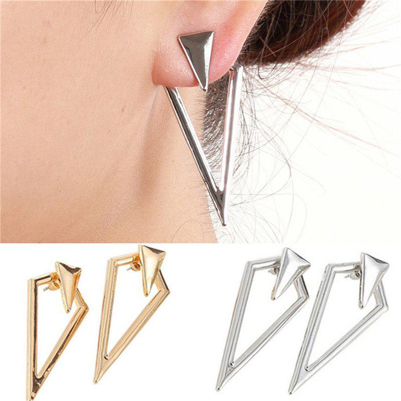 Latest Fashion Personality All-match Lady Prismatic Metal Earrings