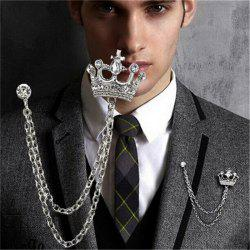 Gleiny diamond crown styling men's Suit Brooch -