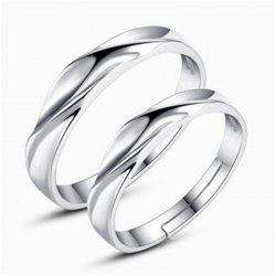 Ataullah New 925 Silver Lovers' Rings Men and Women Trendy Sterling Silver Rings Adjustable Size Fine Jewelry RWD852 -