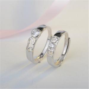 Ataullah New 925 Silver Lovers' Rings Men and Women Wedding Rings Adjustable Size Fine Jewelry RWD850 -
