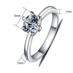 Ataullah 1 Carat 925 Silver SONA Diamond Women Rings Sterling Silver Jewelry Wedding Rings Exquisite Cut Shiny RWD851 -