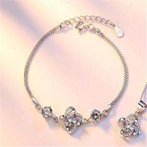 Ataullah Not Allergic 925 Sterling Silver Clover Bangles & Bracelets Super Shiny Bracelets for Women Fine Jewelry SSB013 -