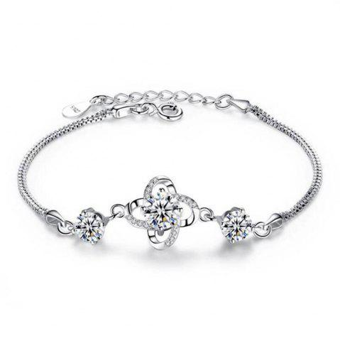 New Ataullah Not Allergic 925 Sterling Silver Clover Bangles & Bracelets Super Shiny Bracelets for Women Fine Jewelry SSB013