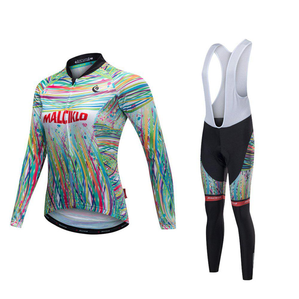 Fancy Malciklo 18 Malciklo Cycling Jersey Winter Warm with Bib Tights Women's Long Sleeves Bike Compression Suits Quick Dry