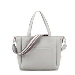 Ladies Simple Shoulder Strap Handbag -