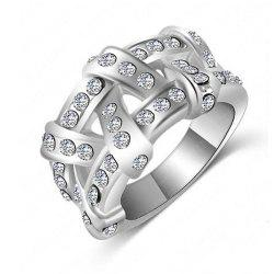 Women's Ring Stylish Crystal Pendant Ring Accessory -