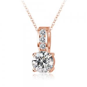Women's Necklace Exquisite Gold Plating Faddish Zircon Necklet Accessory -