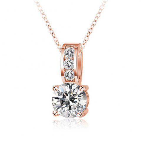 Fancy Women's Necklace Exquisite Gold Plating Faddish Zircon Necklet Accessory