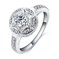 Women's Ring Elegant Stylish Circle Zircon Ring Accessory -