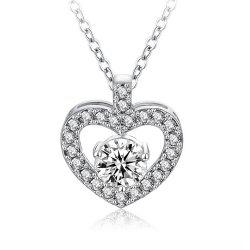 Women's Necklace Hollow Out Heart Shaped Neckle -