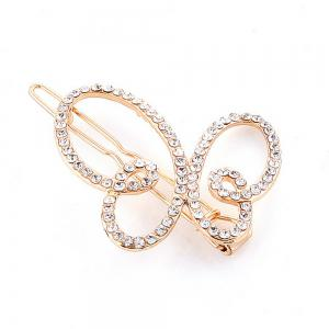 Women's Clip Sweet Sumptuous Rhinestone Inlay Butterfly Accessory -