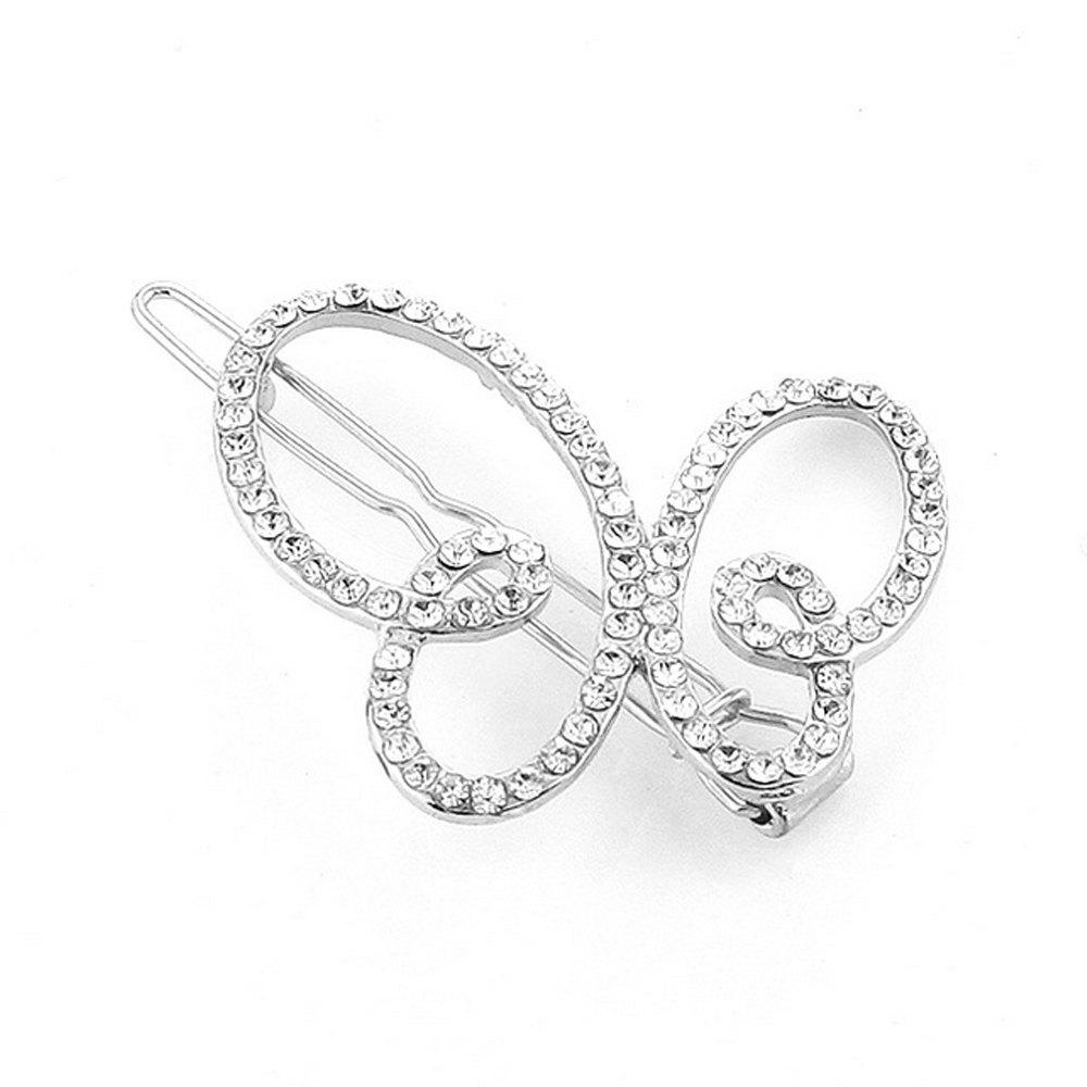 Shop Women's Clip Sweet Sumptuous Rhinestone Inlay Butterfly Accessory