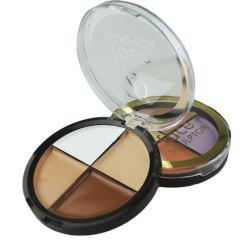 ZD F2047 4 Colors Concealer Palette Waterproof Natural Face Makeup 1PC -