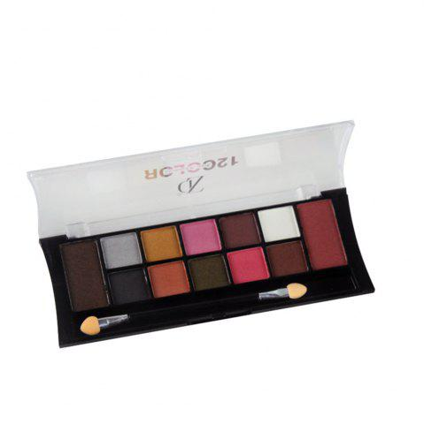 Hot ZD F2049 12 Colors Eye Shadow Palette Shimmer Matte Eyeshadow Powder Eye Makeup 1PC