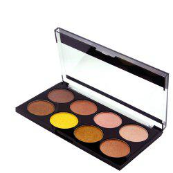 ZD F2086 8 Colors Eye Shadow Palette Shimmer Colorful Eye Makeup 1PC -