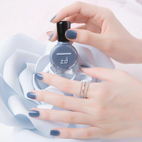 Trendy ZD SC2001 Peel Off Gray Color Nail Polish Long Lasting Quicky Dry 15ml