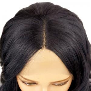Short Deep Side Black Bobo Hair Lace Front Synthetic Wig -